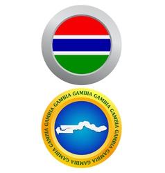 Button as a symbol GAMBIA vector