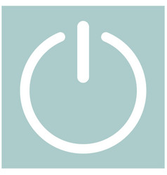 Button turn on or off icon vector