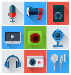 computer accessories icons vector image