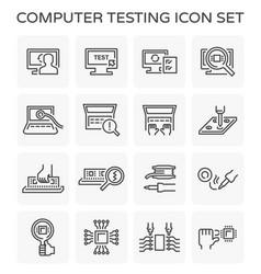 Computer testing icon vector