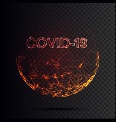 corona virus 3d polygonal text covid-19 virus vector image