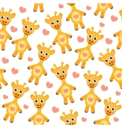 Cute cartoon giraffe seamless texture vector