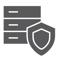 data protection glyph icon safety and storage vector image