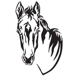 decorative horse 4 vector image