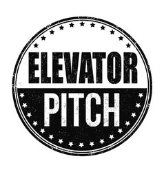 Elevator pitch grunge rubber stamp vector