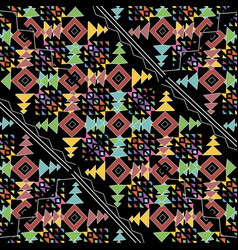 ethnic tribal style colorful geometric seamless vector image