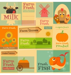 farm posters vector image