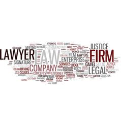 Firms word cloud concept vector