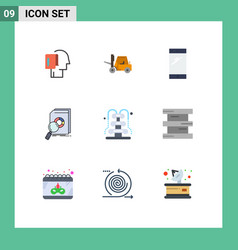 Flat color pack 9 universal symbols market vector