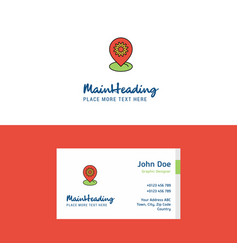flat location setting logo and visiting card vector image