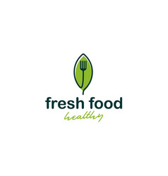 Fresh food logo healthy vegetable food for diet vector