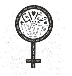 girl power lettering vector image