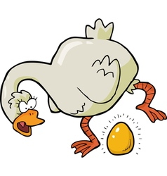 Goose laid golden egg vector