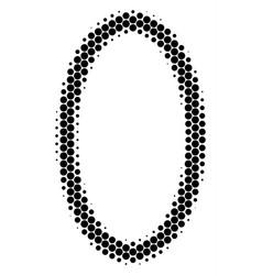 Halftone dot contour ellipse icon vector