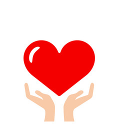 heart in hand icon vector image