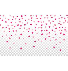 Hearts falling valentine vector
