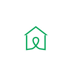 house line logologo icon design template vector image