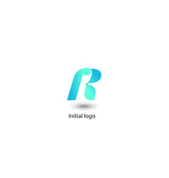 initial letter r graphic design vector image