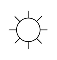 Line sun and hot natural weather vector