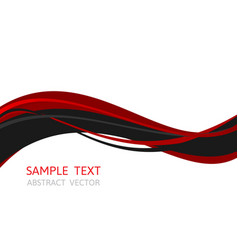 line wave red and black color abstract vector image