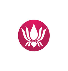 Lotus symbol icon vector