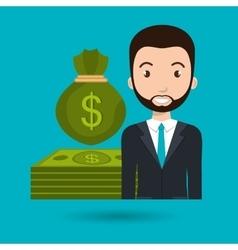 Man dollar money vector