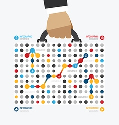 modern design business bag dot style infographic vector image