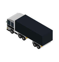 modern lorry truck side view isometric icon vector image