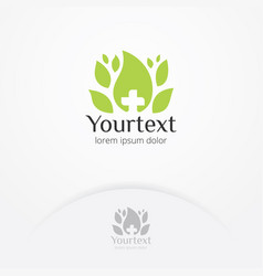 nature health logo design vector image