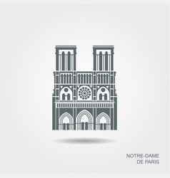 notre dame de paris cathedral france flat vector image