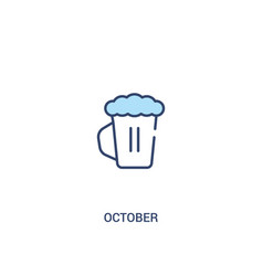 October concept 2 colored icon simple line vector