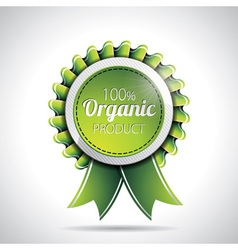 Organic product labels with shiny styled design vector image