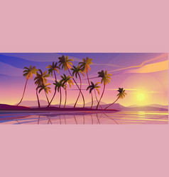 Panoramic seascape view picturesque marine scenery vector