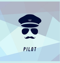 pilot icon in flat style vector image