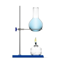 Realistic Chemical Laboratory Equipment Glass vector