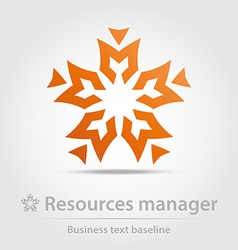 Resources manager business icon vector image