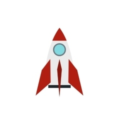Retro rocket icon in flat style vector image