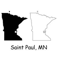 saint paul minnesota mn state border usa map vector image