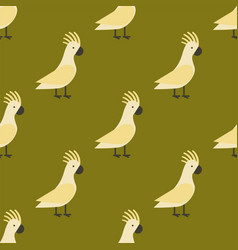 Seamless pattern of gold parrot vector