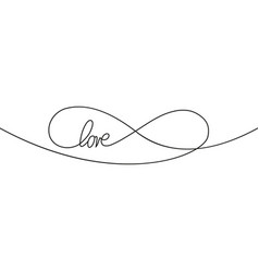 Sign infinity and text love icon element of vector