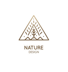 simple triangle logo nature vector image