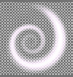 spiral of light purple color vector image
