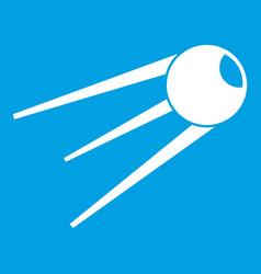 Sputnik icon white vector