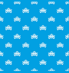 Taxi car pattern seamless blue vector