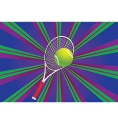 Tennis Ball and Racket3 vector