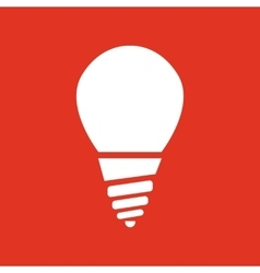 The incandescent lamp icon Lamp and bulb vector image