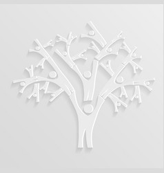 tree of people vector image