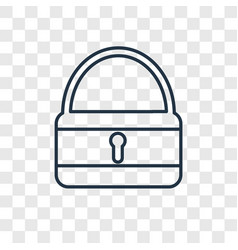 Unlocked concept linear icon isolated on vector