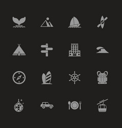 Vacation - flat icons vector
