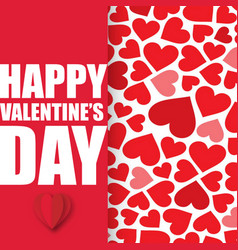 Valentine day with hearts background image vector